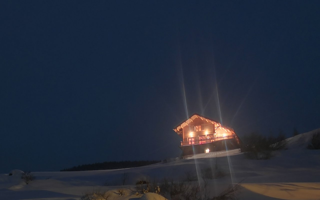 Les Lumières du mélèze #Madriers #Queyras #SkiResort #Snow #Powder#Winter #Nuit